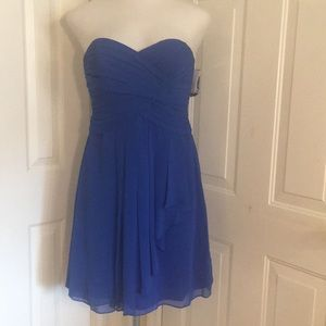 Strapless Royal Blue bridesmaid / cocktail dress